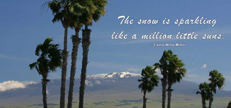 There's Snow in Hawaii!